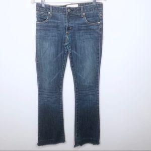 Paper Denim & Cloth Raw Hem Boot Cut Jeans Size 27